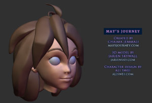 May's Journey main character ZBrush head sculpt