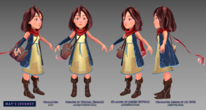May character, by Jarien Skywall for May's Journey game by Chaima Jemmali