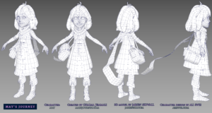May character wireframe, by Jarien Skywall for May's Journey game by Chaima Jemmali